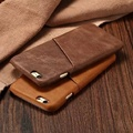 Retro Vintage Real Genuine Leather Case For iPhone 7 6 6S Plus 5 5S SE Cell