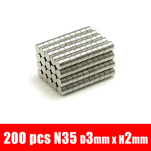3*2 wholesale 200pcs 3mm x 2mm disc powerful magnet craft neodymium rare earth permanent strong n50 n52 free shipping to russia<br><br>Aliexpress