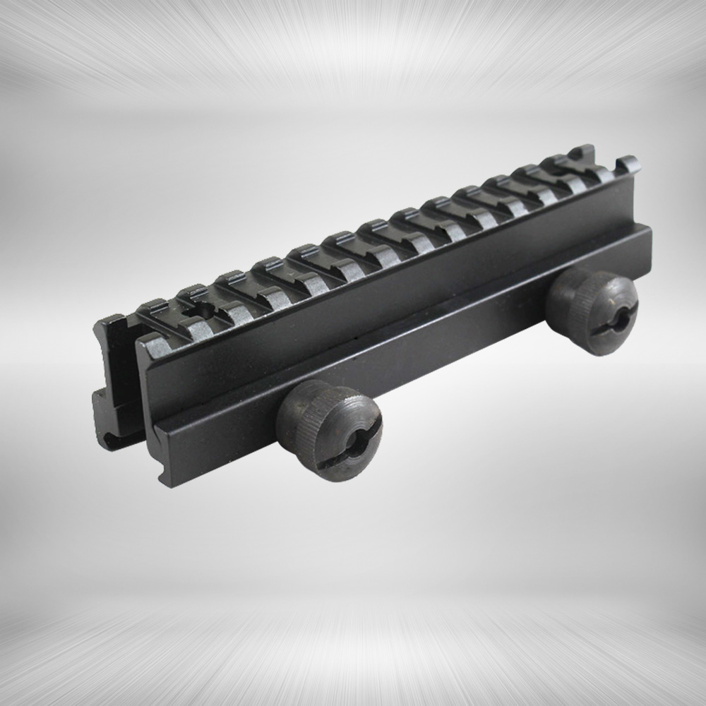 Tactical 1 inch Hight 14-slot See Through Full Size AR Riser Mount 20mm Weaver Picatinny Rails Fit AR15 Rifles(China (Mainland))