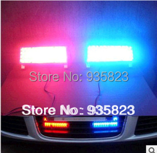 Car led DRL Daytime running light Controller Strobe Flash Warning Police Car Truck Firemen Lamp 2*22 changeable (blue and red)(China (Mainland))