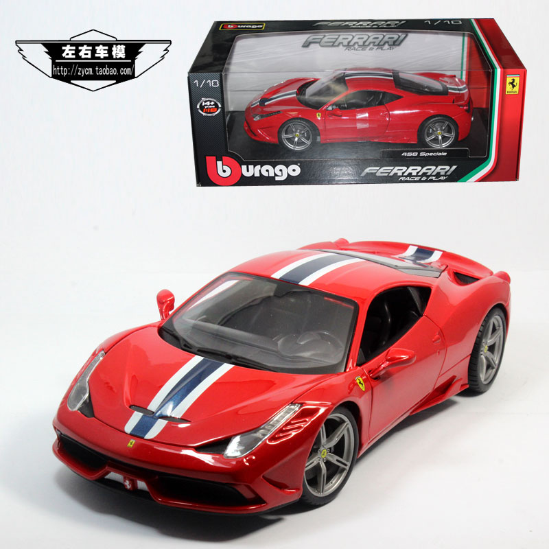 Brand New 1/18 Scale Bburago Car Model Toys F-e-rr*ari 458 SPECIALE Version Diecast Metal Car Model Toy For Collection/Gift(China (Mainland))