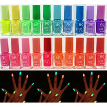 Hotsell 20 Candy Colors Glow In Dark Luminous Fluorescent Nail Art Polish Enamel New Arrived Promotion