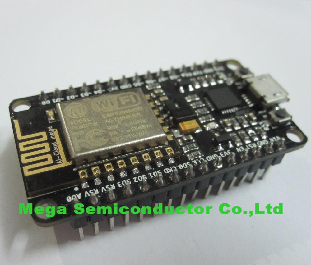 10PCS/LOT New Wireless module NodeMcu Lua WIFI Internet of Things development board based ESP8266 with pcb Antenna and usb port