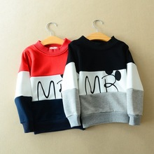 [Sashine kids]Children clothing 2016 early spring boys girls hoodie fashion MR letters sweatshirts for baby boys hot hoody 2-7Yr(China (Mainland))