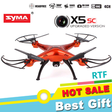 Syma X5SC Explorers 4 Channel 2.4G 6 Axis 3D Flip RC Quadcopter with 2.0MP HD Camera Drone