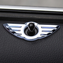 Car Styling Insignia Emblem Wings Stickers Decoration Accessories For BMW Mini Cooper R55 R56 R57 R58 R59 Door Lock Knobs(China (Mainland))