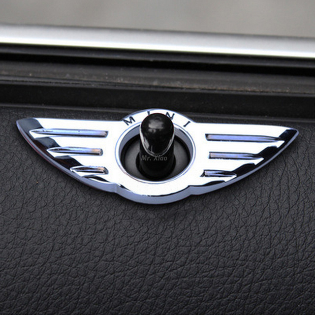 Car Styling Insignia Emblem Wings Stickers Decoration Accessories For BMW Mini Cooper R55 R56 R57 R58 R59 Door Lock Knobs