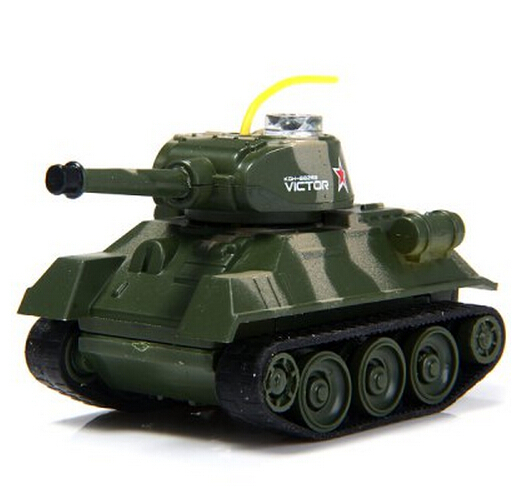 War Tank Toys Mini Car with Infrared Light and LED Light Panzer War Game RC Tank Toy for Military Enthusiasts