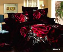 Новое поступление черный и красная роза постельного белья 3D печать 4 шт. черный покрывало Queen / King / супер пододеяльник простыня