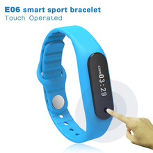 2016 Touch Screen Smart Band Wristband E06 Bracelet Fitness Wearable Tracker Bluetooth watch for Android 4.4, LIKE Xiaomi MiBand