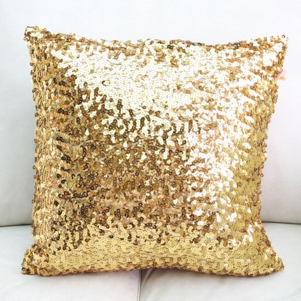 #89 Europe whole shine sequin gold red silver cushion cover sofa bed car home room Dec without filling wholesale(China (Mainland))