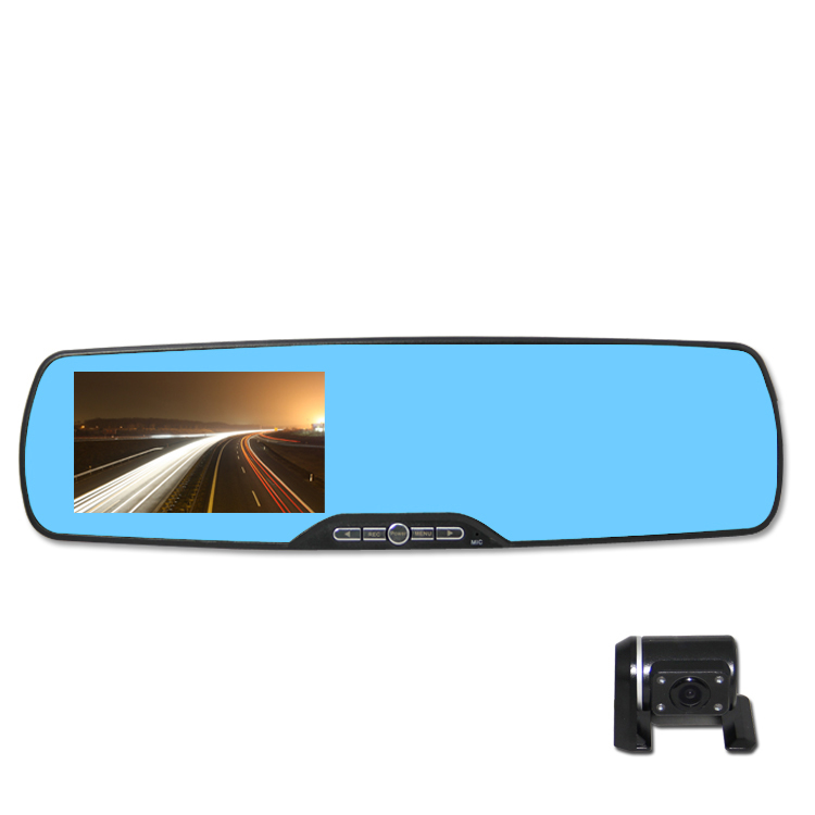 LCD screen full hd 120 degree rearview camera mirror for ford ranger 2014(China (Mainland))