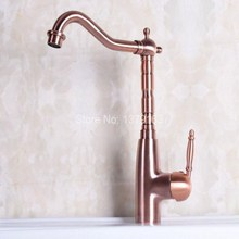 Buy Vintage Red Copper Antique Brass Single Handle Swivel Spout Bathroom Basin Kitchen Sink Faucet Cold & Hot Mixer Tap anf129 for $67.50 in AliExpress store