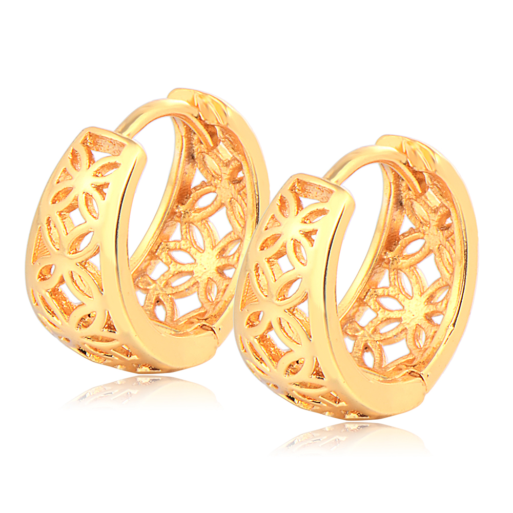Small Fashion Jewelry Gold Plated Premier Designs Womens Girls Vintage Filigree Hollow Hoop Earrings Gift Earings Wedding(China (Mainland))