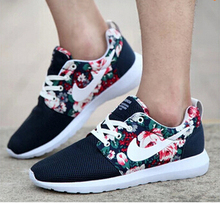 2015 New Design Flower roshelis trainers women& men running shoes ,hot sale London Mesh RUN sports sneakers breathable shoes(China (Mainland))