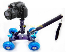 3in1 1set  Camera Rail Car Table Dolly Car  +  Phone Handheld monopod Tripod + 11 inch magic arm For d1000 d3000 d3100 d3200(China (Mainland))