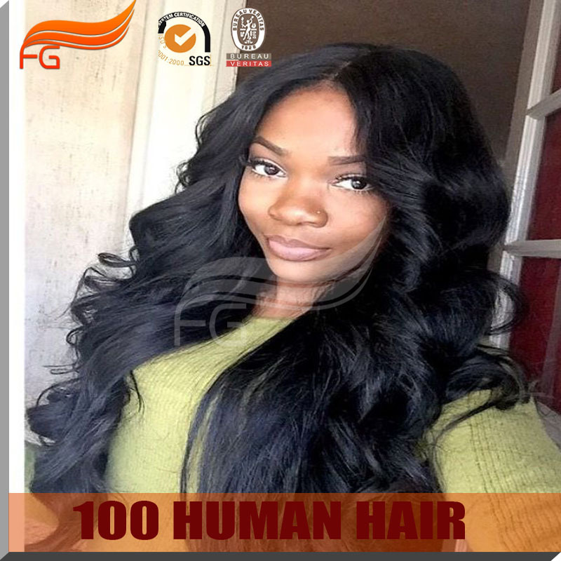 1# chinese virgin human hair wig 130% density swiss lace full lace wig(China (Mainland))