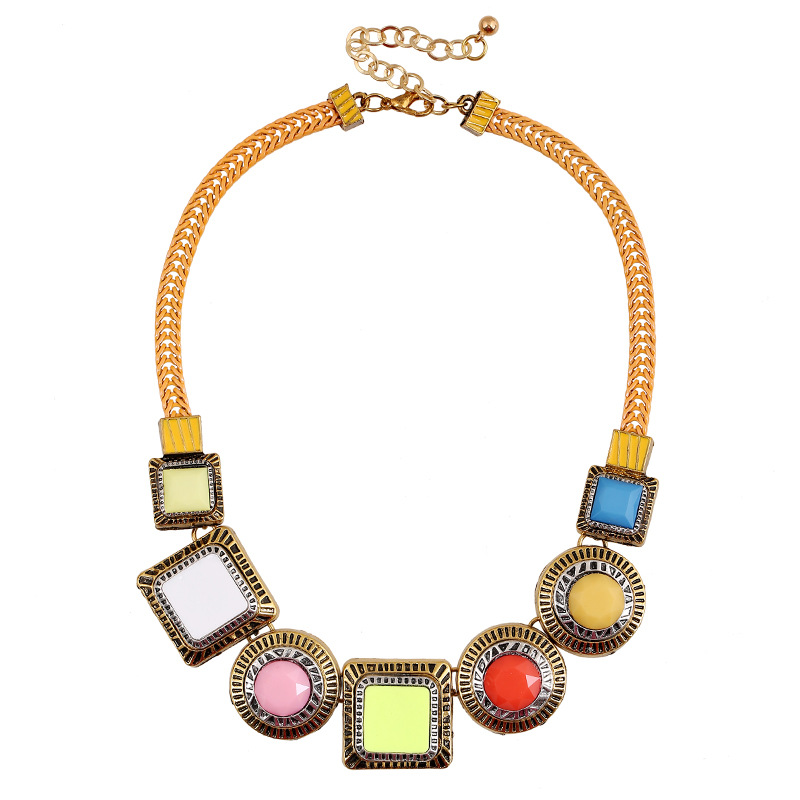 WH20160306-2 2016 New Hot Fine Jewelry Za Gem Necklace Fashion Collares Gift Woman Choke Necklaces & Pendants(China (Mainland))