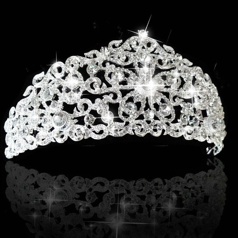 New Fashion Tiara and Crown princess crown bride head piece jewelry For Wedding bride quinceanera tiaras free shipping CY-016(China (Mainland))