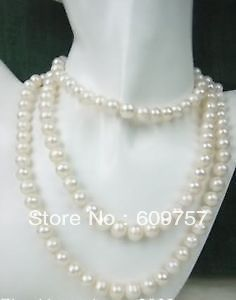 Use Natural Pearl NECKLACES Natural women's jewelry SUPER LONG 50