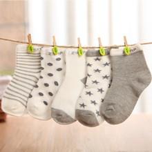 5 Pairs 1-10 Years Children Short Socks Kids Girl and Boy Cotton Floor Socks Baby Newborn Casual Socks(China (Mainland))