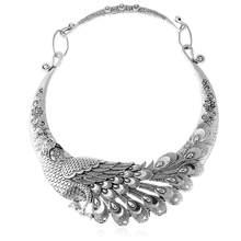 Liuxsp Thương Hiệu Retro Khắc Chim Công Cổ Choker Vòng Nữ 2020 Mới Kẽm Hợp Kim Dây Chuyền Hợp Thời Trang Collares Collier(China)