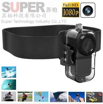 Extreme HD1080P/30fps Sport Helmet Camera Alloy Shell Mini DV F38 Thumb Camera
