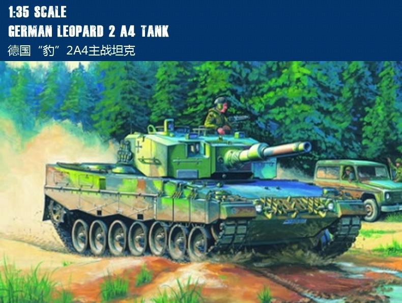 Hobby Boss MODEL Scale 1/35 German Classic tanks models 82401 German Leopard 2 A4 tank plastic model(China (Mainland))