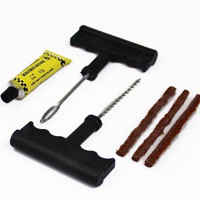 1 пк автомобиль велосипед автоматический прокол бескамерная шина вилка ремонт инструмент комплект безопасный 3 полоска BZ670381