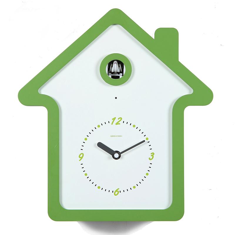 Fashion Simple Design Cuckoo Clock / Creative living room wall clock clock/time signal clock /Intelligent light sensor(China (Mainland))