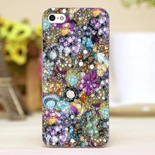 Vintage Bling Design Customized transparent case cover cell mobile phone cases for Apple iphone 4 4s 5 5c 5s hard shell