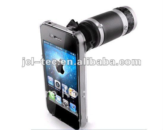 8x Optical Zoom Lens Camera Telescope for iPhone 4 4G 4S Magnification Magnifier