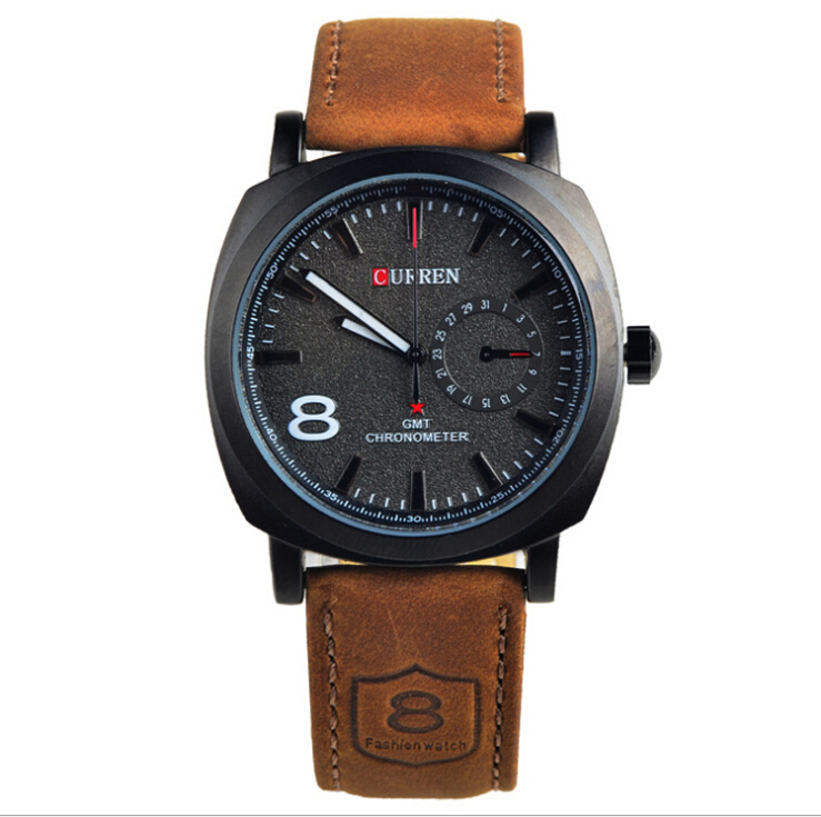 2015 HOT Brand Original Curren Fashion Quartz Watch Genuine Leather Business Clock Men Women Military Wristwatches - eBuyBuy store