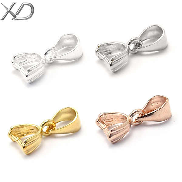 XD genuine 925 silver fashion pendant pinch bails jewelry diy accessories four color P065 3pc/lot(China (Mainland))