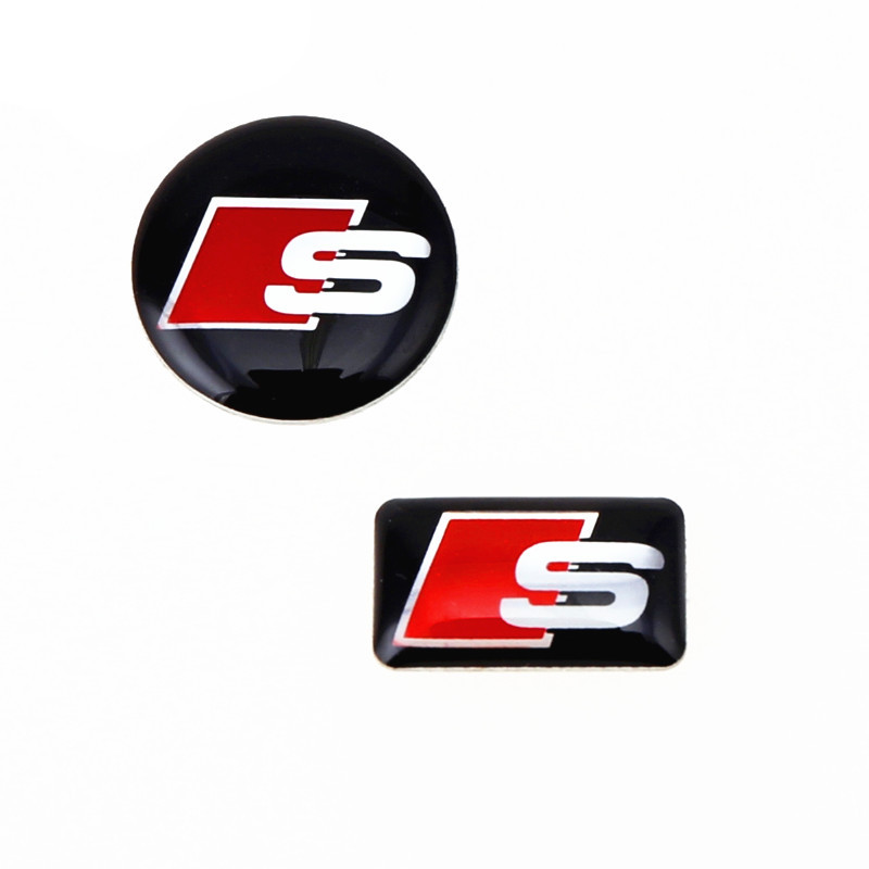 1 pairs/lot New Car Stickers Audi Factory Direct Best Price Auto Sticker Car Styling S-line Logo Epoxy Decals For Cars(China (Mainland))
