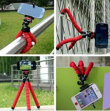 Universal Car Phone Holder Flexible Octopus Tripod Bracket Selfie Mount Monopod Adjustable Accessorie For Mobile Samsung Camera