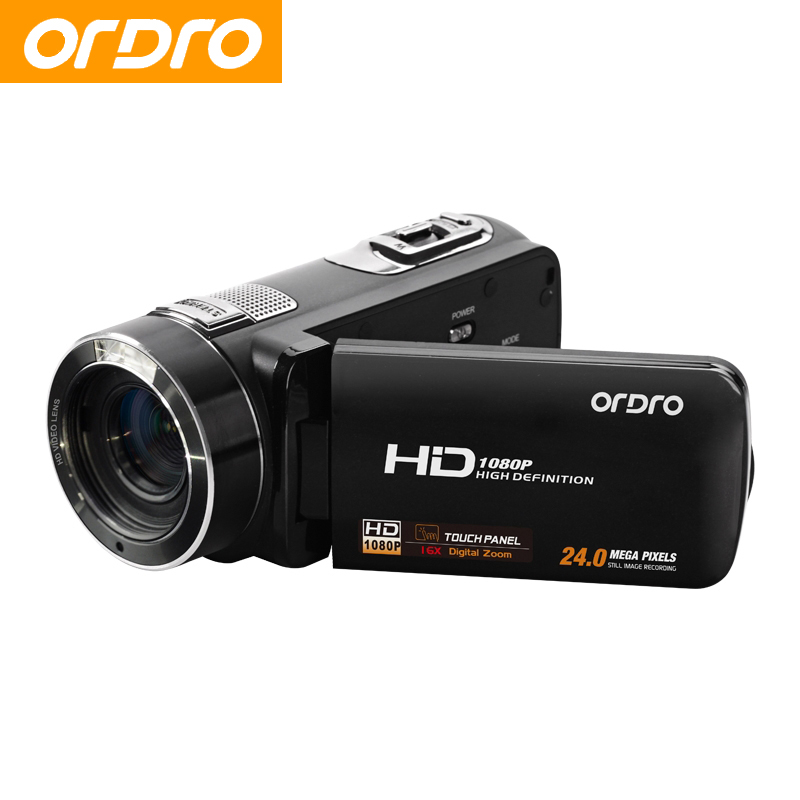 ORDRO HDV Z8 Full HD 1080P Reflex Digital Photo Cameras 16X Video Recorder Mini Camcorders with Face Recognition(China (Mainland))