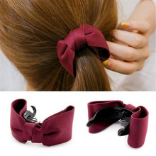 2016 New 6 Colors Bowtie Crab Hair Clip Trendy Claws Ponytail Hair Ornaments Women Hair Accessories Kids Girl Hairgrip(China (Mainland))