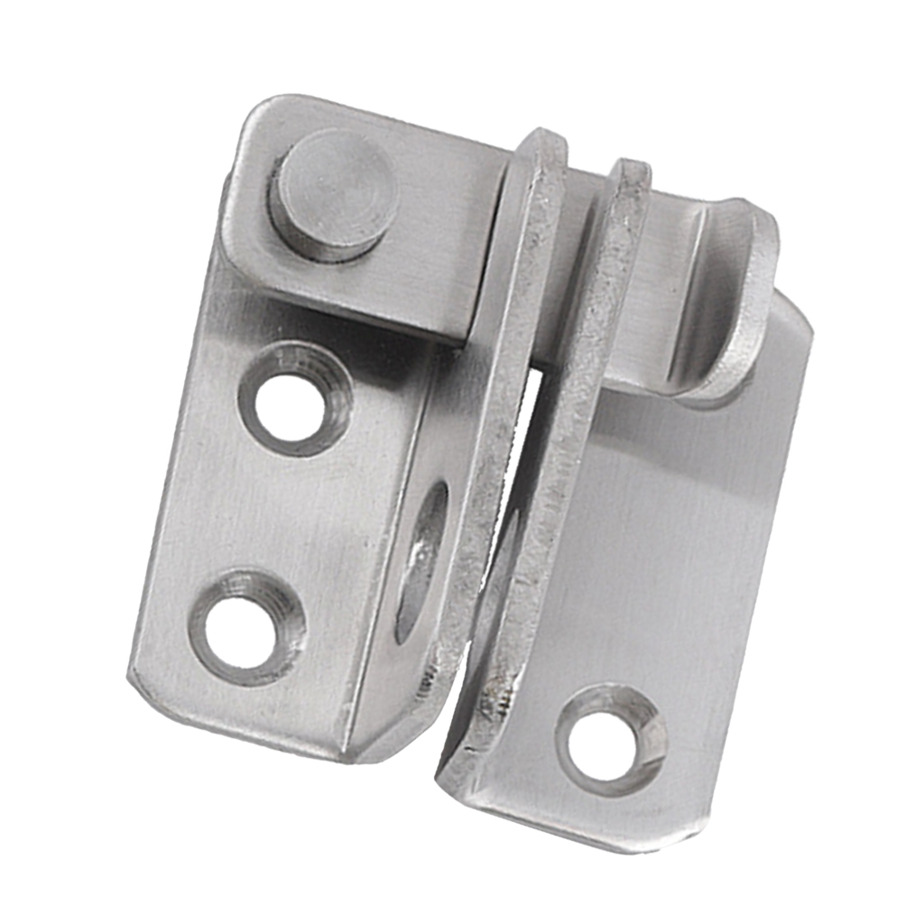 Slide Bolt Latch Gate Latches Safety Door Lock 40x45mm Stainless Steel Brushed Finish with Padlock Hole