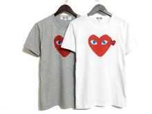2016 Comme Des Garcons Cdg Play T shirt Men Women Couple T shirts Good Quality Navy Blue Color T shirt Deadpool Brand T Shirts