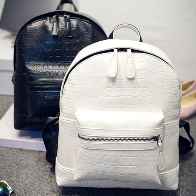 2016 стильные женские кожаные рюкзаки под кожу крокодила, школьные сумки для подростков, ...