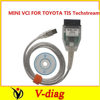 2014 Latest Software Version MINI VCI for Toyota TIS Techstream V9.30.002 Single Cable with Best Price