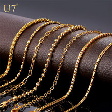 Buy U7 Brand DIY Chains Necklace Pendant Men/Women Jewelry Gold Color Stainless Steel 3MM/2MM Twisted Rope Chain Wholesale N401 for $2.97 in AliExpress store