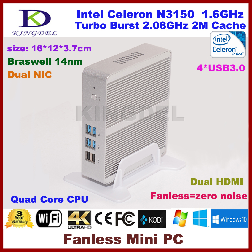 3 Years Warranty Barebone PC Intel NUC Celeron N3150 Intel Braswell Fanless Mini PC Windows HTPC Mini-Itx Micro PC(China (Mainland))