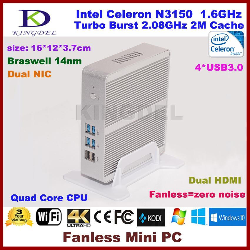 3 Years Warranty Barebone PC Intel NUC Celeron N3150 Intel Braswell Fanless Mini PC Windows HTPC Mini-Itx Micro PC(China (Mainland))