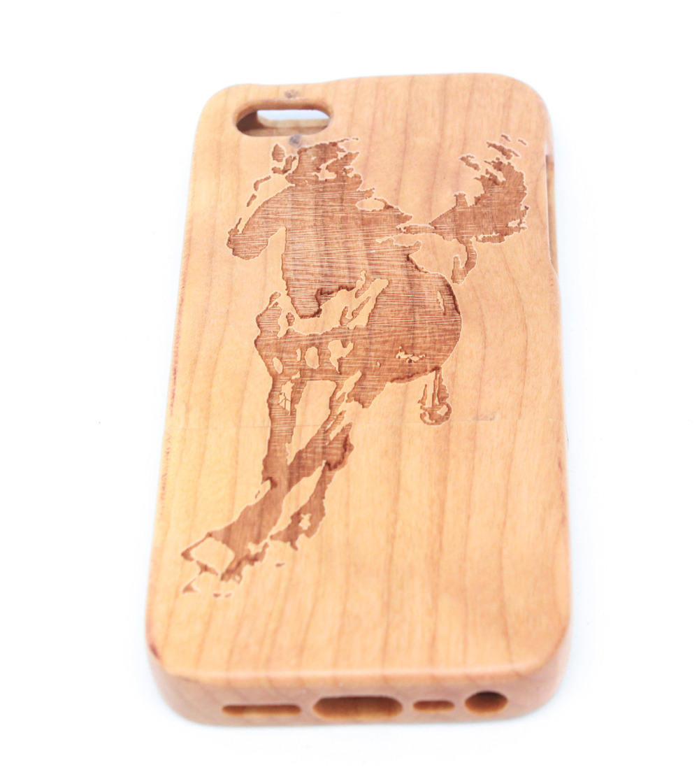 Natural Bamboo Wood Wooden Hard Back Case Cover Protector Apple IPhone 5 5S. - Myemarket store