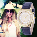 2016 New Women Bracelet Wristwatch ladies Crystal Geneva Watches Fashion Stainless Steel Quartz Wristwatches Relojes Mujer