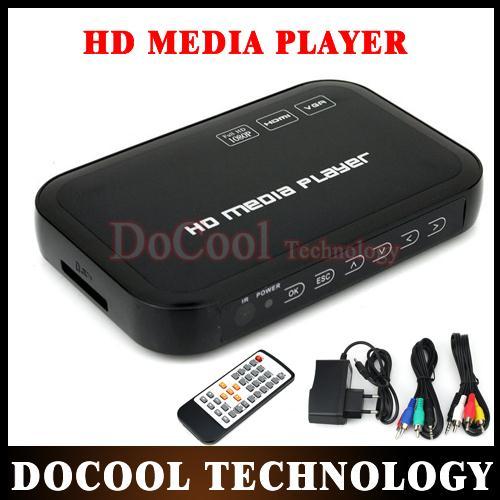 10PCS 1080P Full HD HDD Media Player SD/USB/HDD/HDMI/AV/VGA/AV/YPbpr Support DIVX AVI RMVB MP4 H.264 FLV MKV Music Movie(China (Mainland))