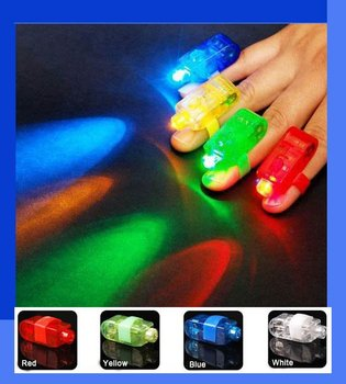 40xColour LED Bright Finger Ring Lights Rave Party 100%