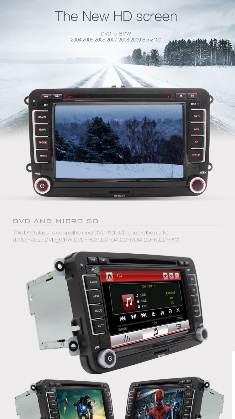 FREE MAP Factory sell radio  for VW passat jetta polo Car DVD GPS Stereo golf car multimedia RDS